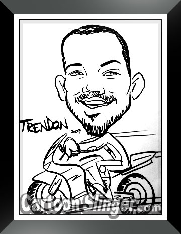race motorcycle cartoon