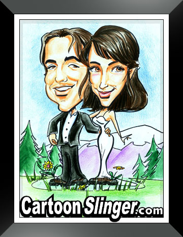 http://www.cartoonslinger.com/mountain wedding gift