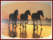 anheuser busch horses mural