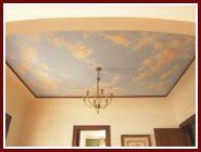 cieling mural clouds