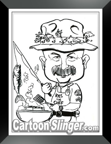 police retirement gift caricature